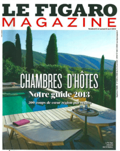 , La Maison Jules in the 2013 guide of Leading French B&Bs of the Figaro Magazine, La Maison Jules